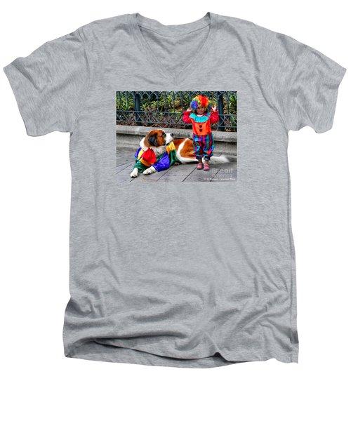 Too Cute For Words Men's V-Neck T-Shirt by Al Bourassa