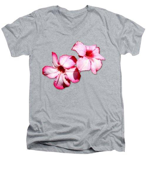 Too Pink Men's V-Neck T-Shirt by Bob Slitzan