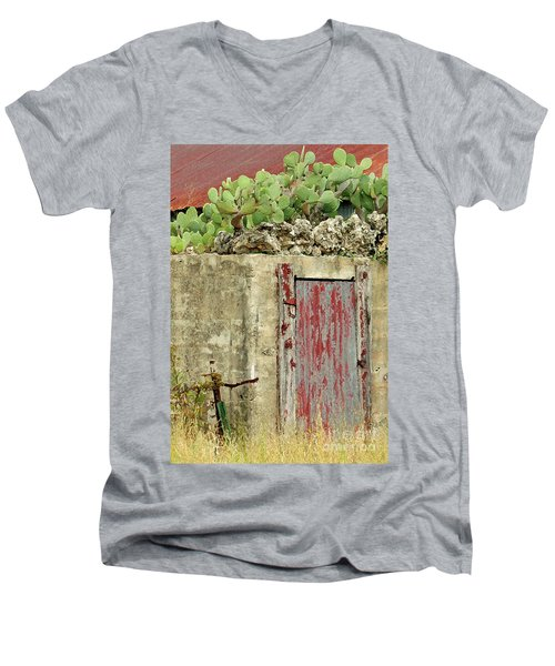 Men's V-Neck T-Shirt featuring the photograph Top Heavy by Joe Jake Pratt