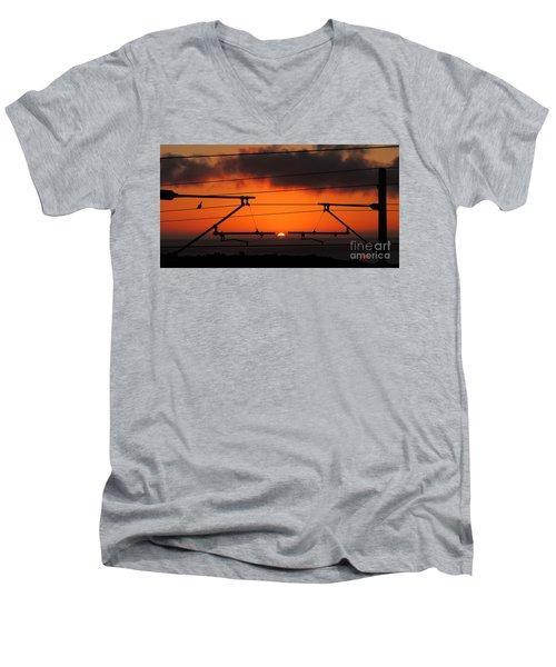 Top Notch Spot Men's V-Neck T-Shirt by Linda Hollis