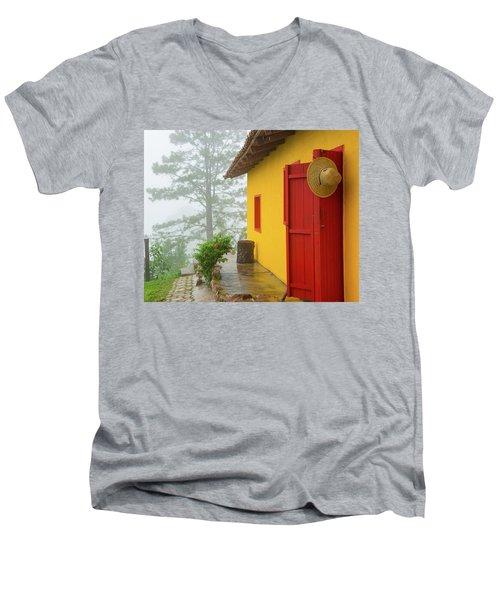 Top Of The Mountain Men's V-Neck T-Shirt