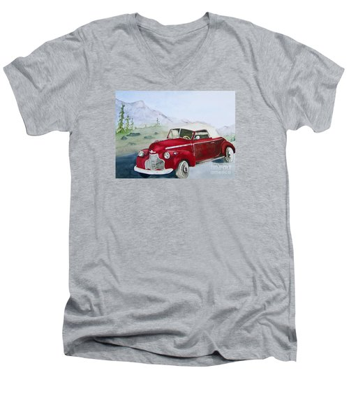 Topless 1940 Chevy Men's V-Neck T-Shirt