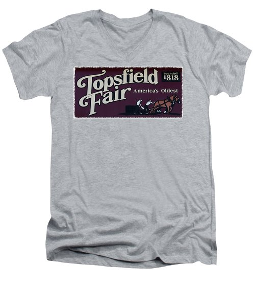 Topsfield Fair 1818 Men's V-Neck T-Shirt