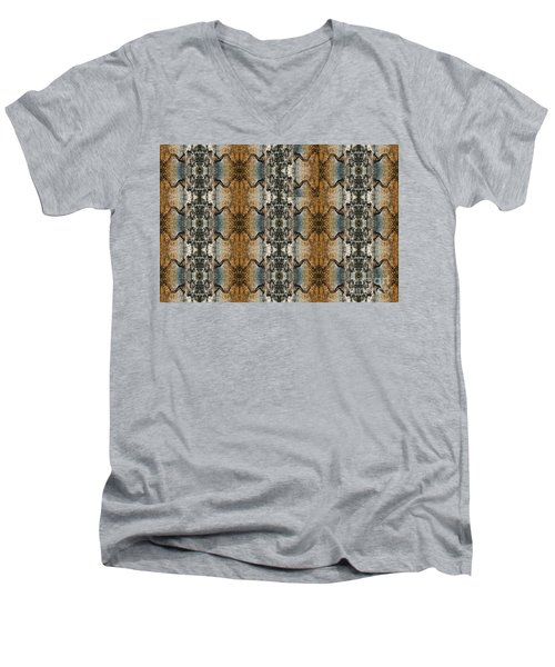 Tornado Pattern Men's V-Neck T-Shirt