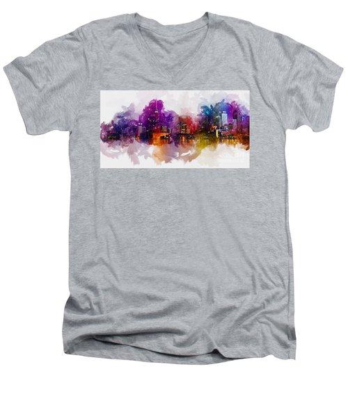 Toronto Canada Skyline Men's V-Neck T-Shirt