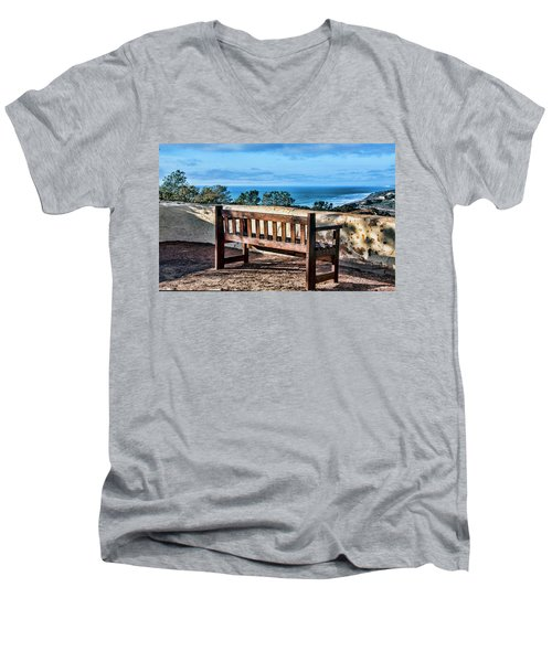 Torrey Pines View Men's V-Neck T-Shirt