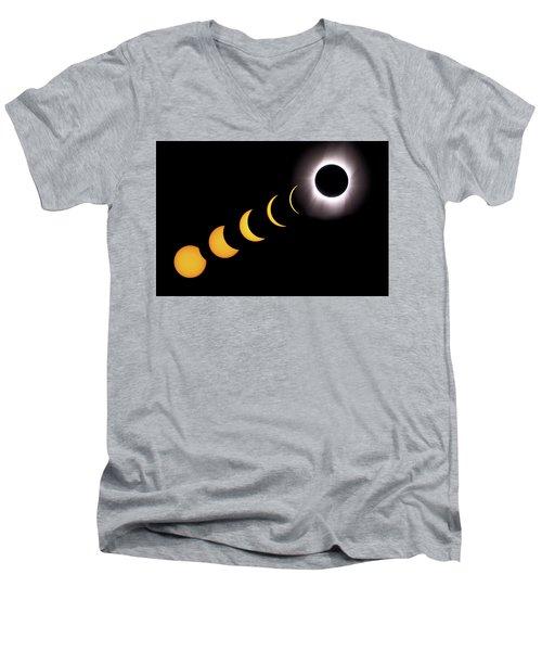 Total Eclipse Sequence, Aruba, 2/28/1998 Men's V-Neck T-Shirt