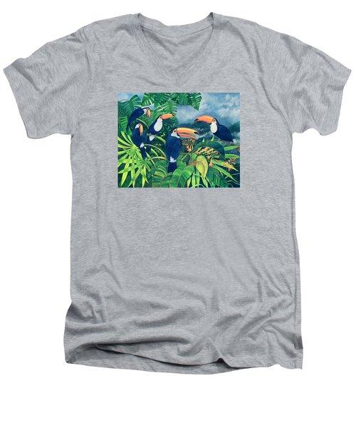 Toucan Talk Men's V-Neck T-Shirt