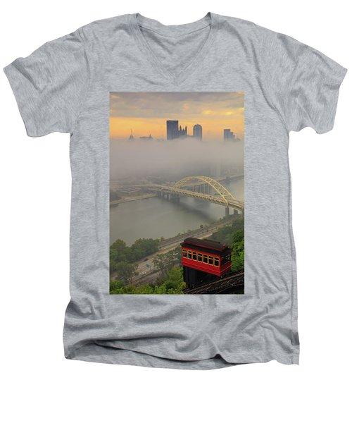 Touch Of Fog  Men's V-Neck T-Shirt