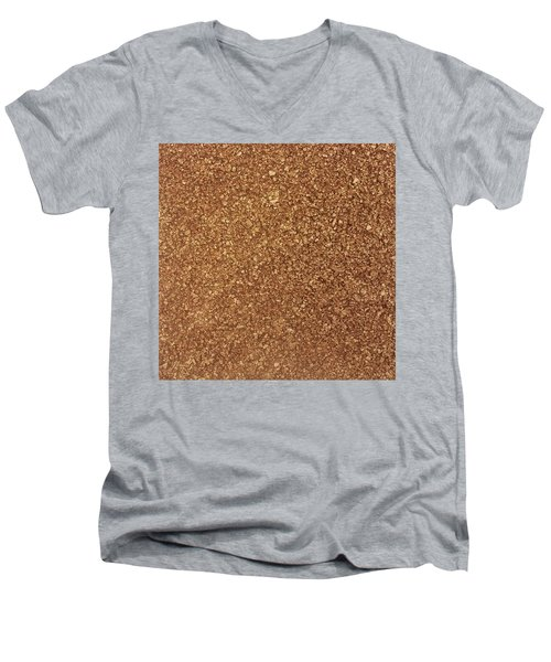 Touch Of Gold Men's V-Neck T-Shirt by Alan Casadei