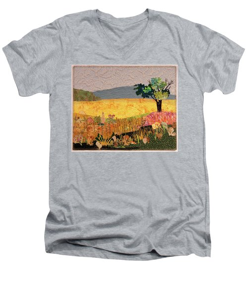 Touch Of Goldenrod Men's V-Neck T-Shirt