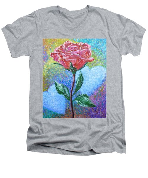 Touched By A Rose Men's V-Neck T-Shirt