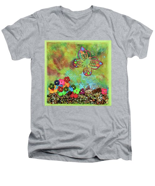 Touched By Enchantment Men's V-Neck T-Shirt by Donna Blackhall