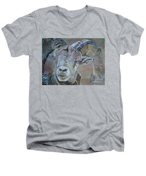 Tough Beauty Men's V-Neck T-Shirt by Stuart Engel