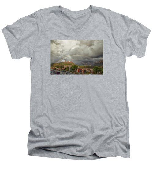 Tour And Explore Men's V-Neck T-Shirt by Tom Kelly