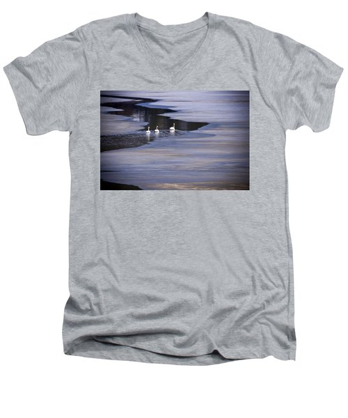 Tourist Swans Men's V-Neck T-Shirt