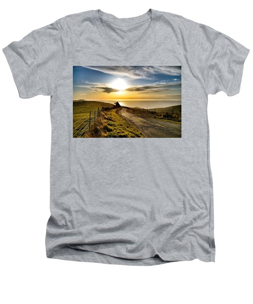 Towards The Sunset Men's V-Neck T-Shirt