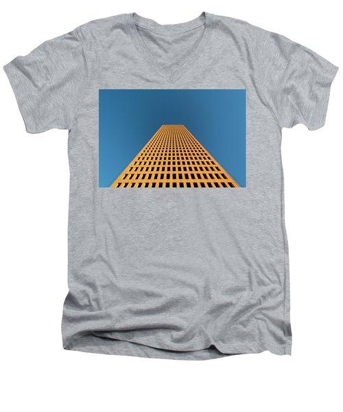 Tower At Sunset Men's V-Neck T-Shirt