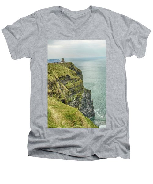 Tower At The Cliffs Of Moher Men's V-Neck T-Shirt