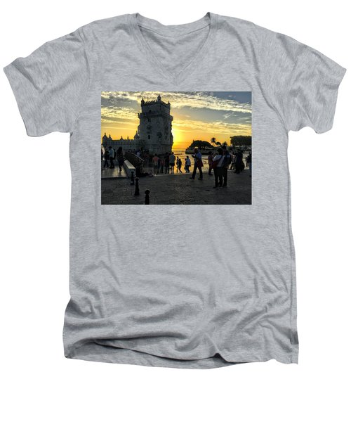 Tower Of Belem Men's V-Neck T-Shirt