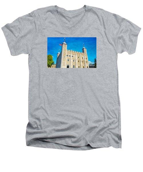 Tower Of London Men's V-Neck T-Shirt