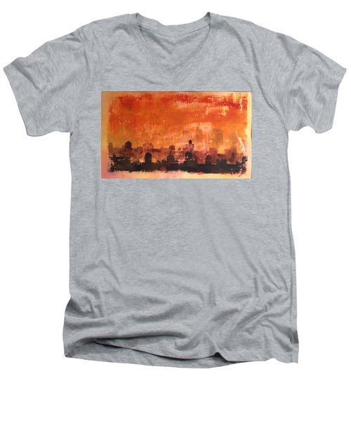 Towers And Tanks Men's V-Neck T-Shirt