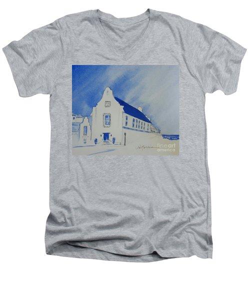 Town Hall, Rosemary Beach Men's V-Neck T-Shirt