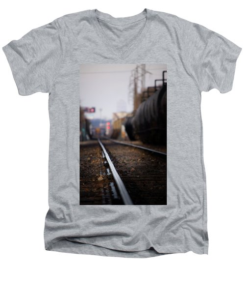 Track Life Men's V-Neck T-Shirt