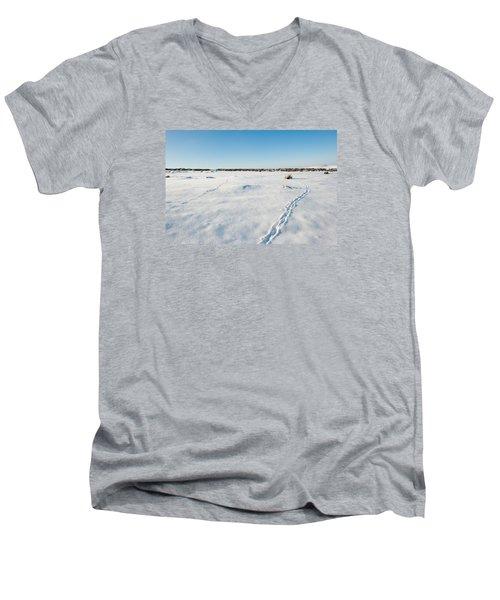Tracks In The Snow Men's V-Neck T-Shirt