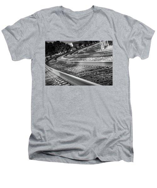 Tracks Through Historic Buford Men's V-Neck T-Shirt