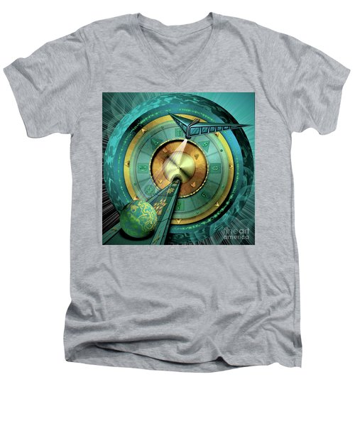 Tractor Beam Men's V-Neck T-Shirt