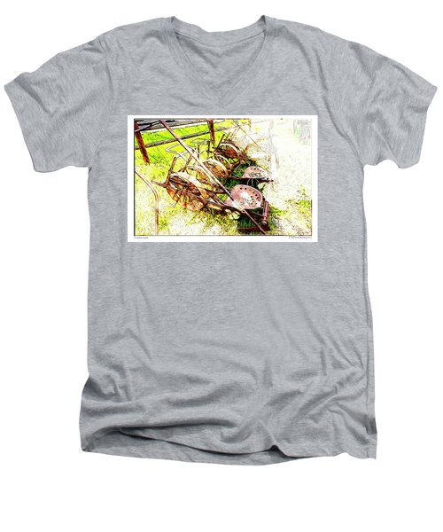 Tractor Seats Men's V-Neck T-Shirt
