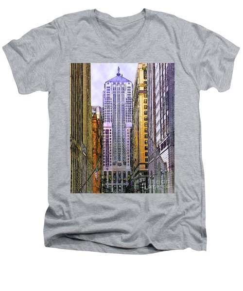 Trading Places Men's V-Neck T-Shirt by John Robert Beck