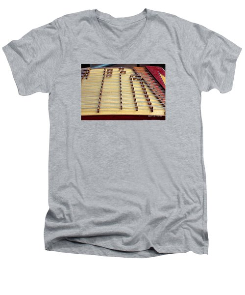 Traditional Chinese Instrument Men's V-Neck T-Shirt by Yali Shi