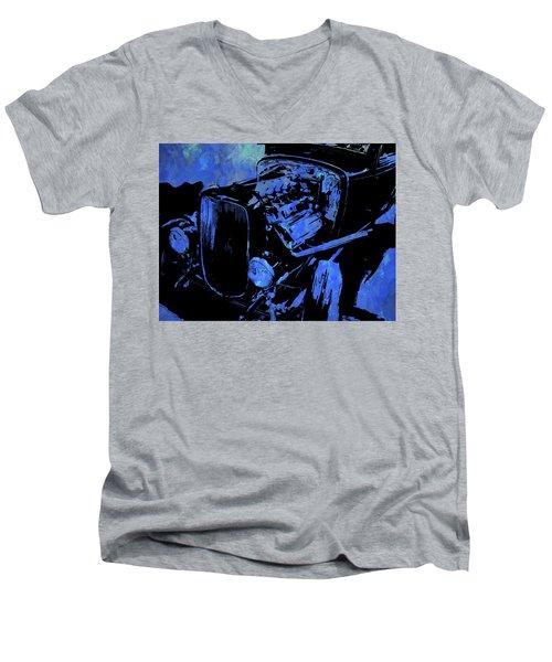 Traditional Hemi Pop Blue Men's V-Neck T-Shirt