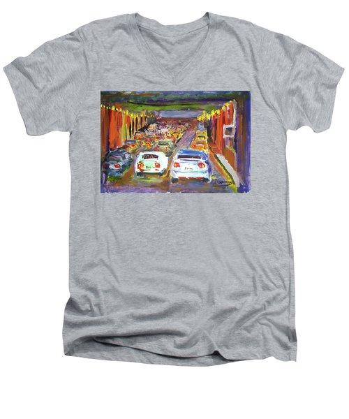 Traffic Jam Men's V-Neck T-Shirt by Janet Garcia