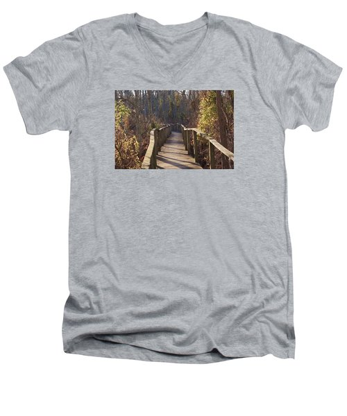 Trail Bridge Men's V-Neck T-Shirt