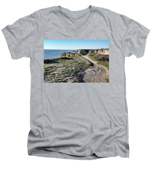 Trail On The Cliffs Men's V-Neck T-Shirt