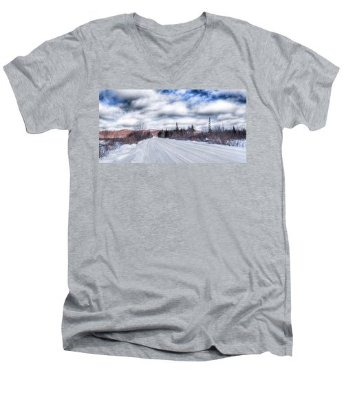 Trail One In Old Forge 2 Men's V-Neck T-Shirt