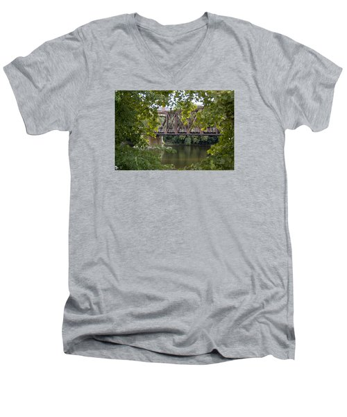 Train Trestle Men's V-Neck T-Shirt by Michael Dorn