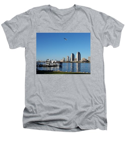 Tranquility By The Bay Men's V-Neck T-Shirt