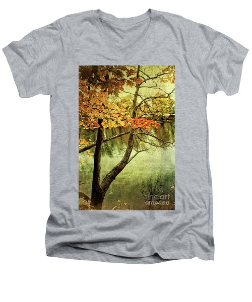 Tranquil Autumn Day Men's V-Neck T-Shirt