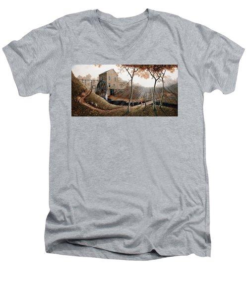 Tranquility Men's V-Neck T-Shirt by Duane R Probus