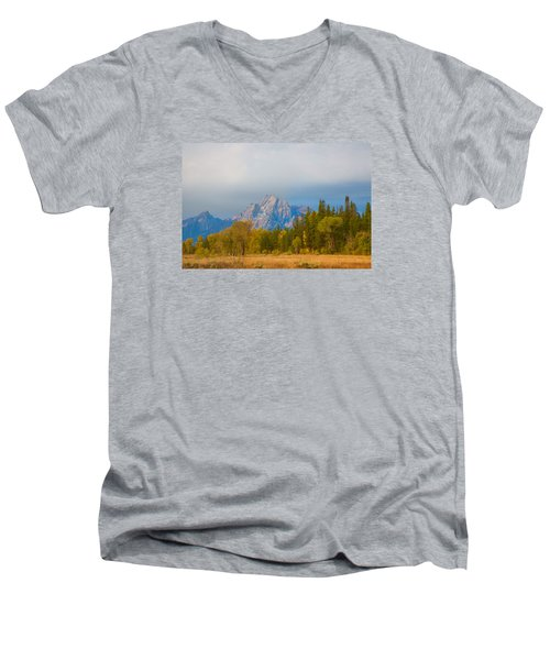 Tranquility Men's V-Neck T-Shirt by Elizabeth Eldridge