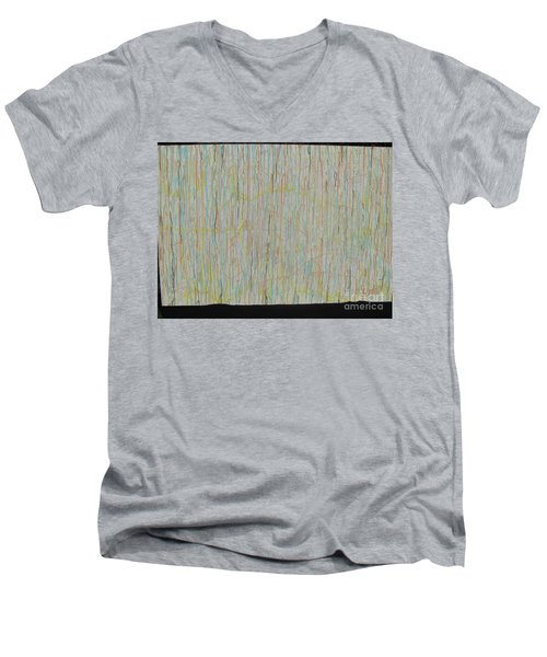 Men's V-Neck T-Shirt featuring the painting Tranquility by Jacqueline Athmann