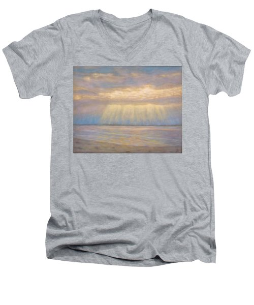 Tranquility Men's V-Neck T-Shirt by Joe Bergholm