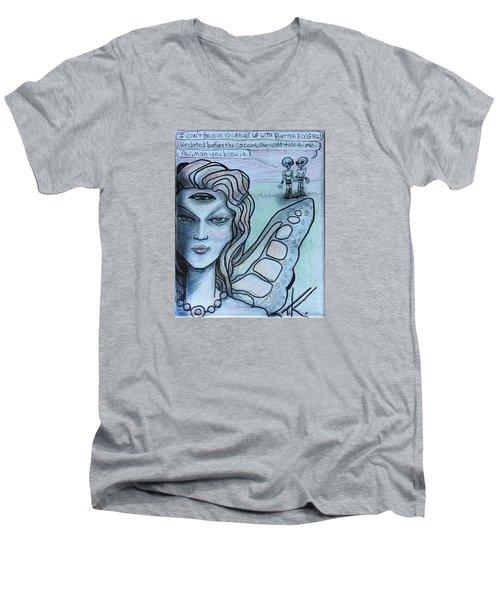 Transformation Men's V-Neck T-Shirt by Similar Alien
