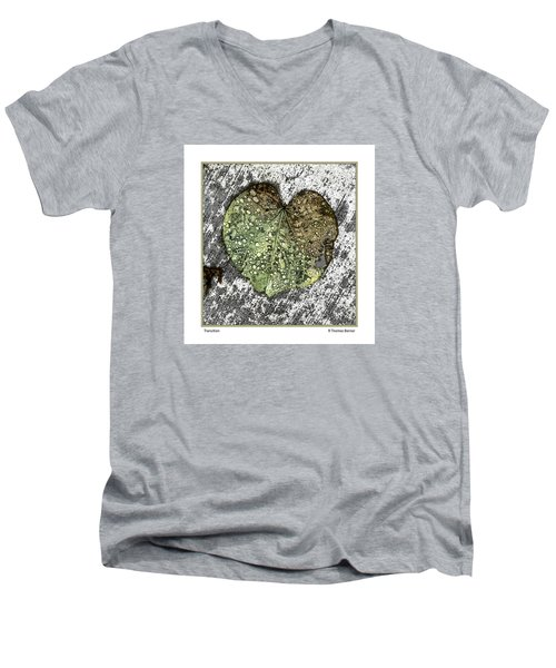 Men's V-Neck T-Shirt featuring the photograph Transition by R Thomas Berner