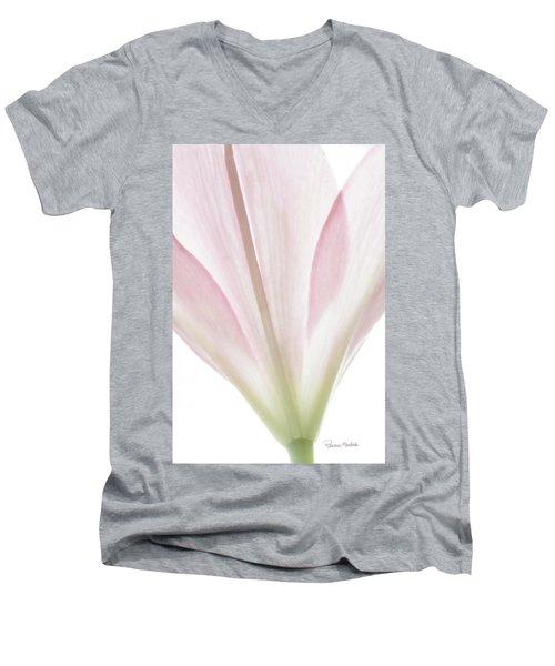 Transparent Lilly I Men's V-Neck T-Shirt