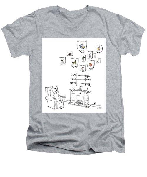 Trash Trophies Men's V-Neck T-Shirt